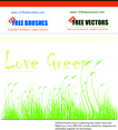 Love Green Vector