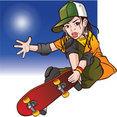 Skateboarding Vector