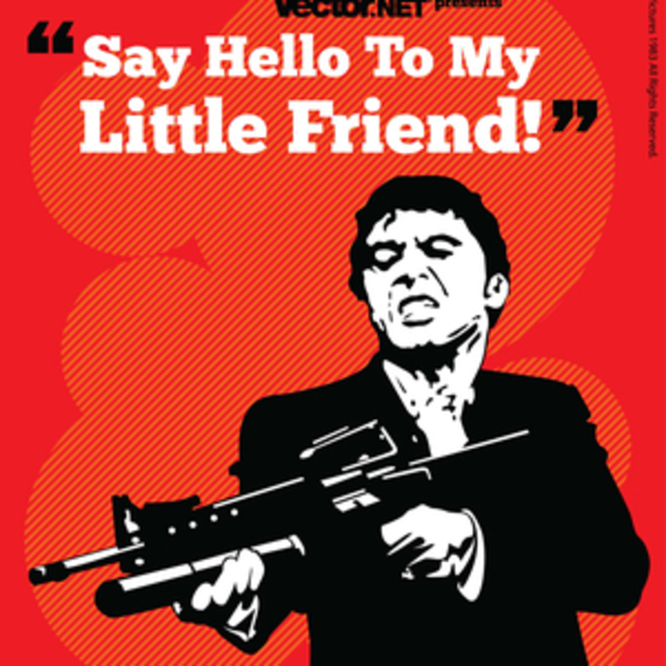 Iconic Cult Movie Vector Art: Scarface