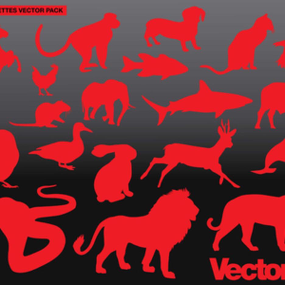 Animal Silhouette Vector Art Pack