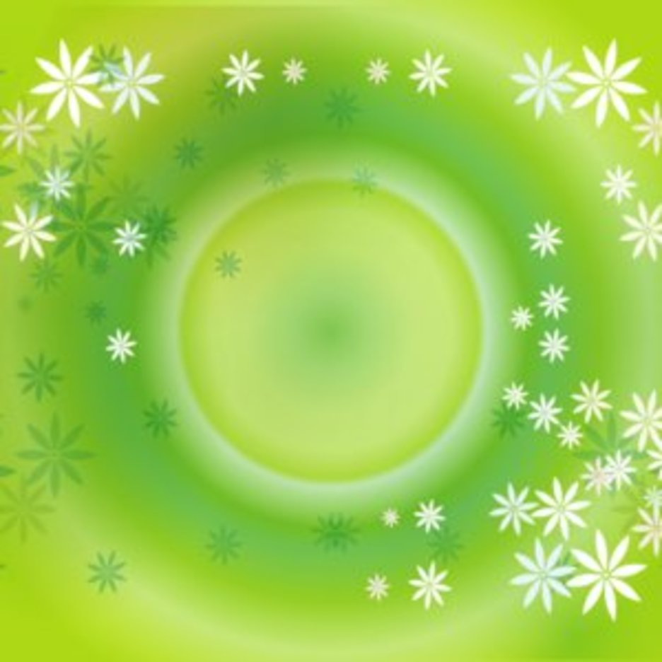 Green Flowers Vector Graphique Background