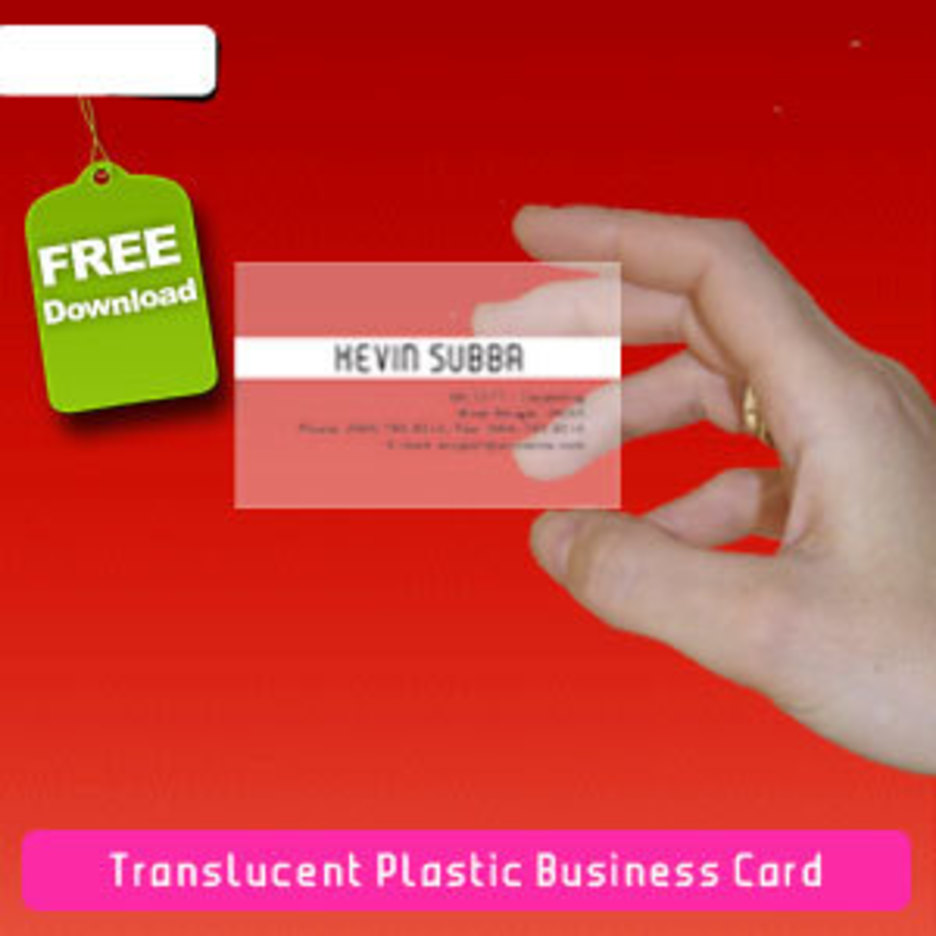 Translucent Plastic Business Card