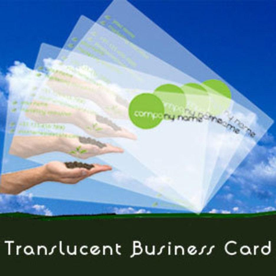 Translucent Business Cards