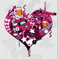 Vector Heart Collage Graphics