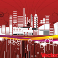 Free Urban City Vector Illustration