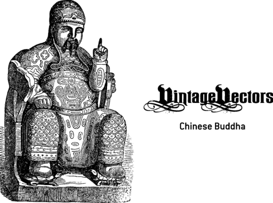 Chinese Buddha, Seated With Baby Turtles Underfoot