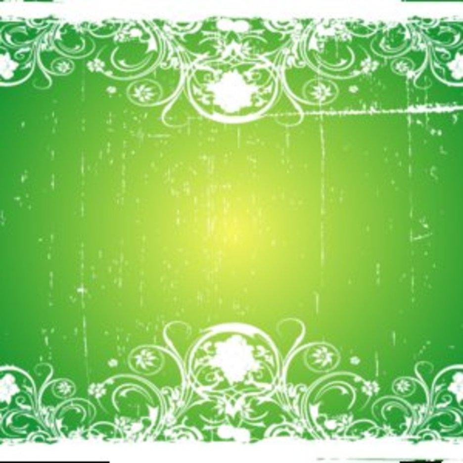 Grungy Green Swirly Vector