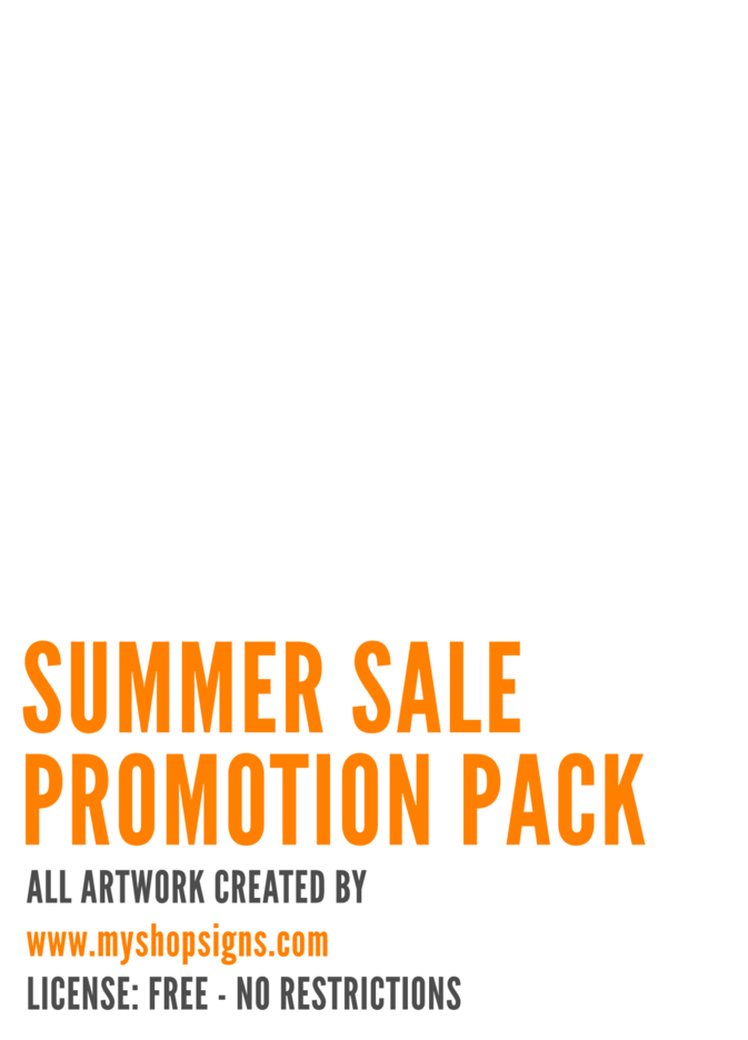 Summer Promotion Sale Printables