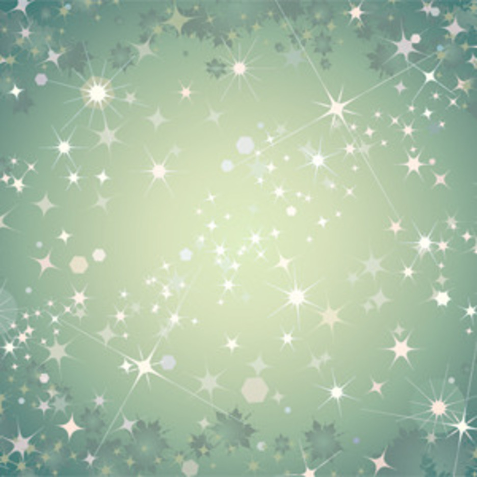 Abstract Green Background With Stars