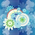 ColorFul Blue Design Vector Graphic