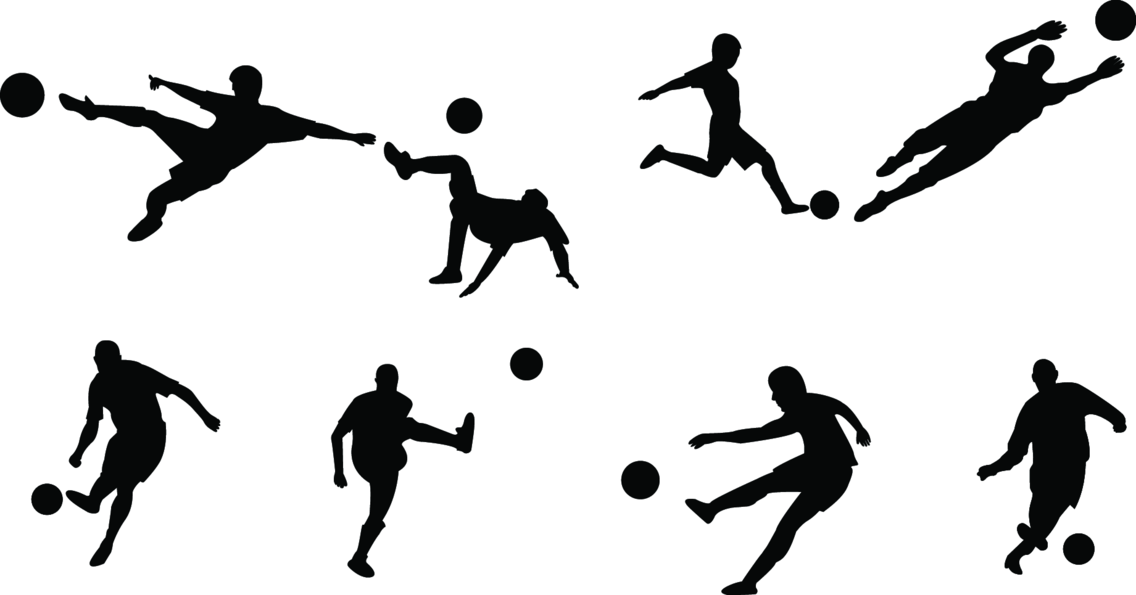 Football Player Silhouettes
