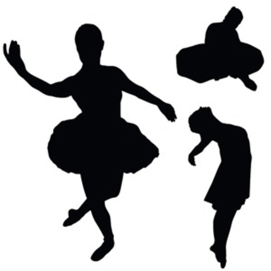 Vector With Dancer Silhouettes
