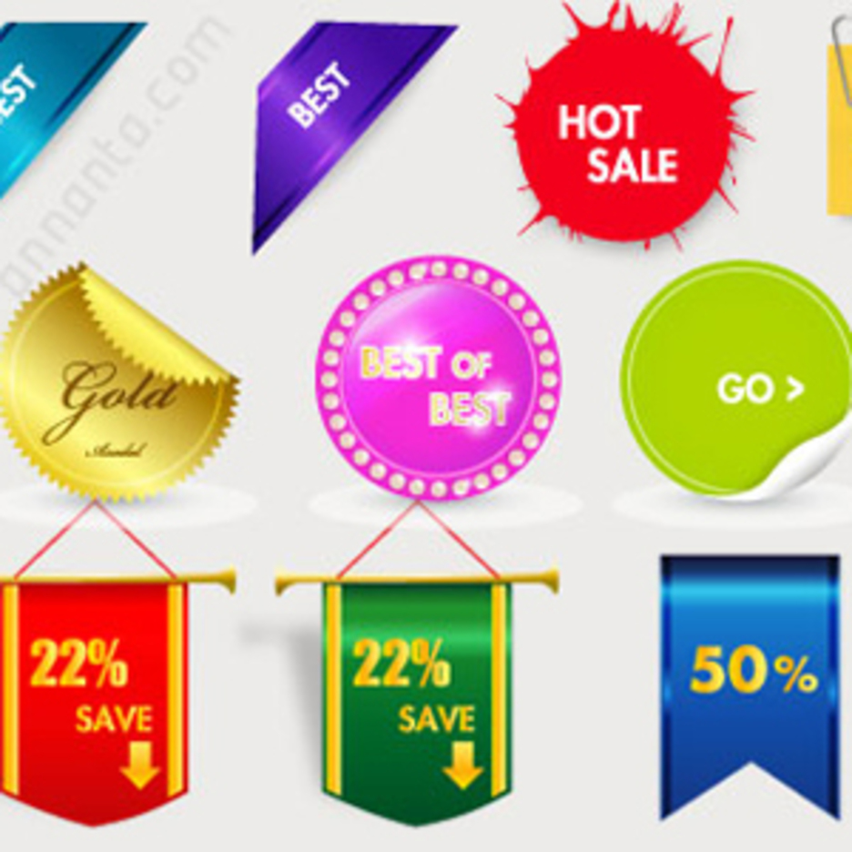 30 Sales Tags Vector Graphics