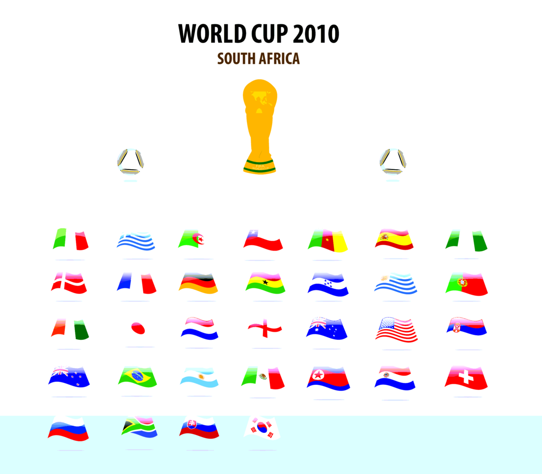 World Cup Qualified Countries' Flags