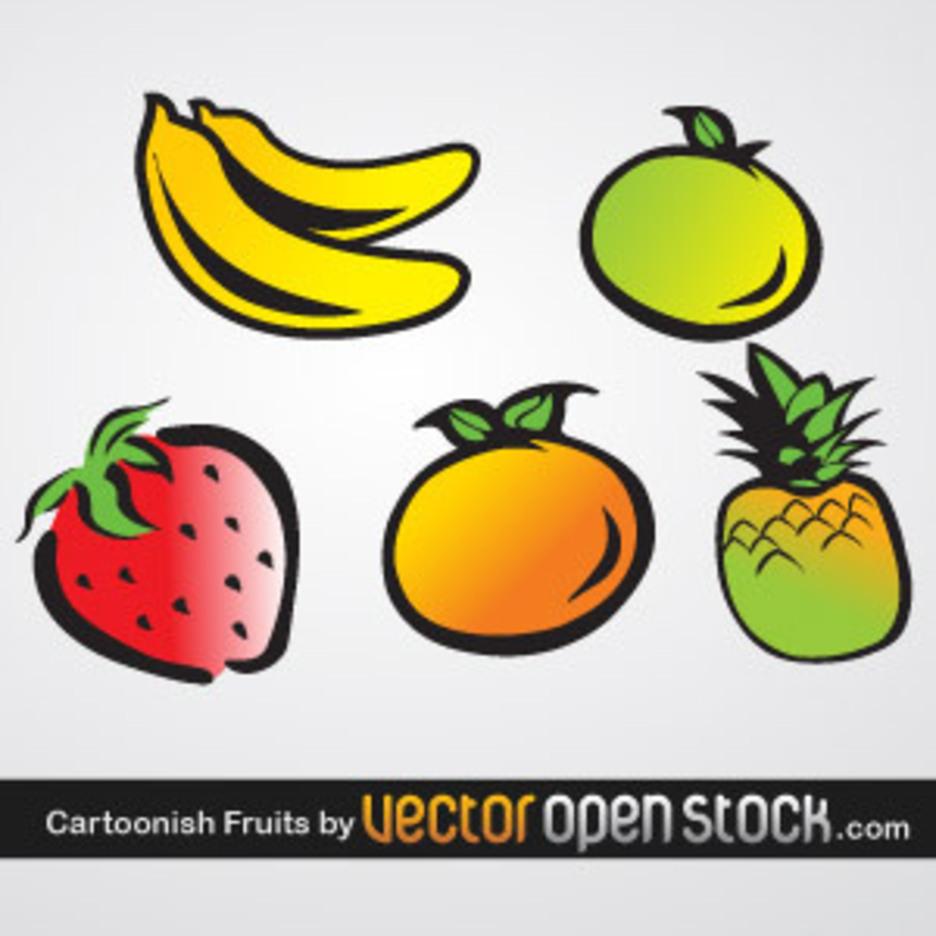 Cartoonish Fruits
