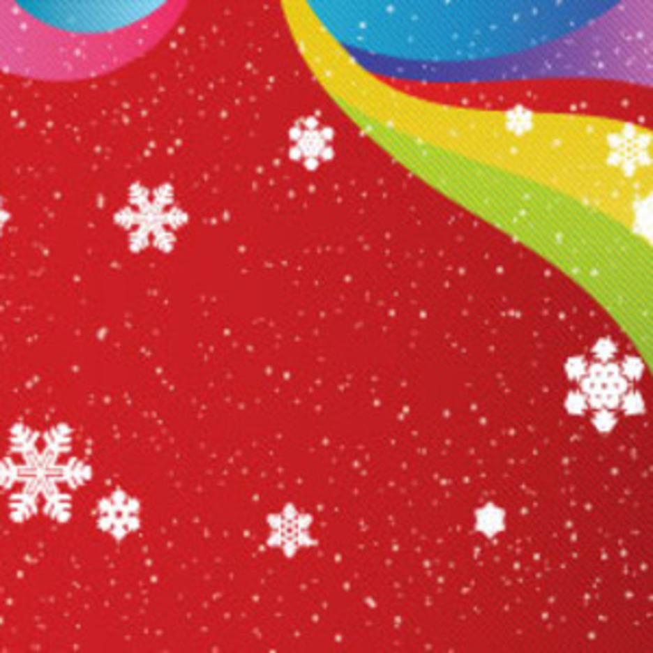 Snow In Red Colored Background Free Vector