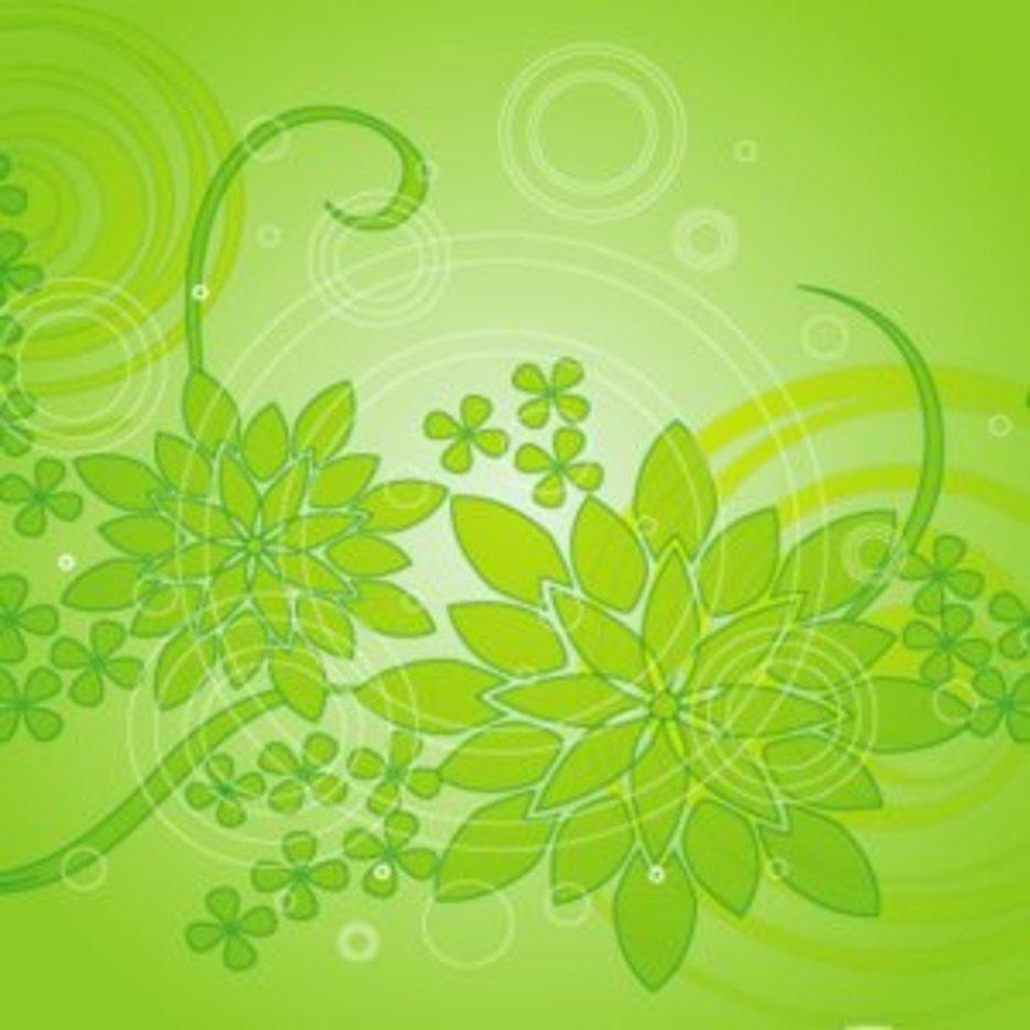 Green Flower Background 3