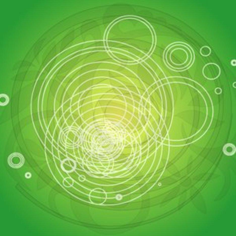Abstract Green Vector IIII