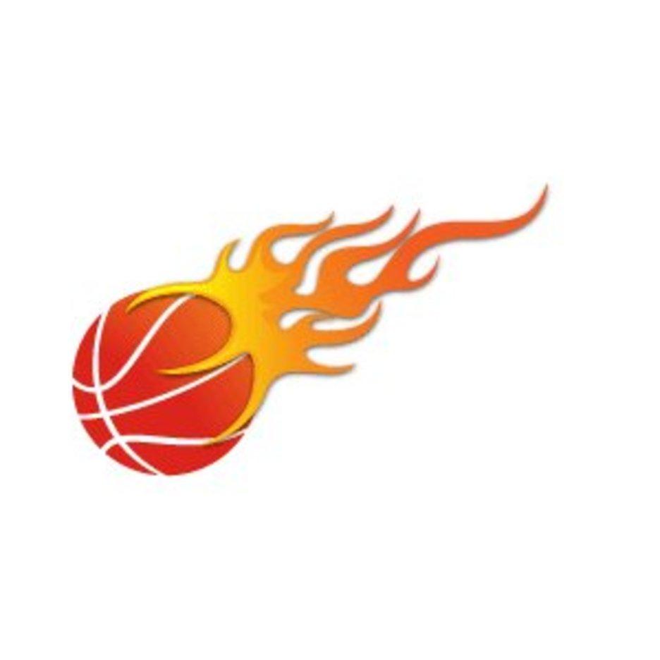 Basketball On Fire Vector