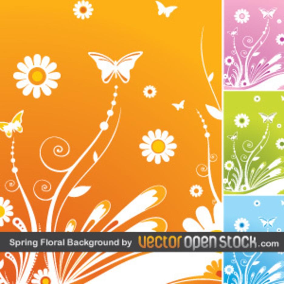 Spring Floral Background By VectorOpenStock