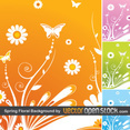Spring Floral Background By VectorOpenStock