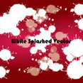 White Splashled In Red Background Vector