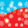 Red And Blue With Snowy Stars Vector