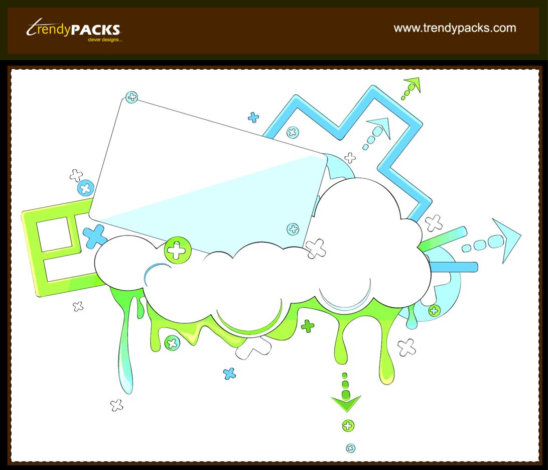 Trendy Clouds Vectors