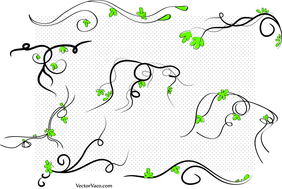 Vector Floral Swirl