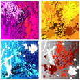 Colourful Grunge Messy Backgrounds