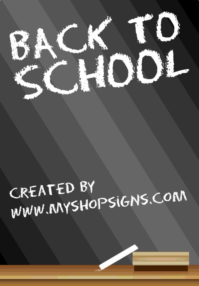 Back To School Blackboard Sign
