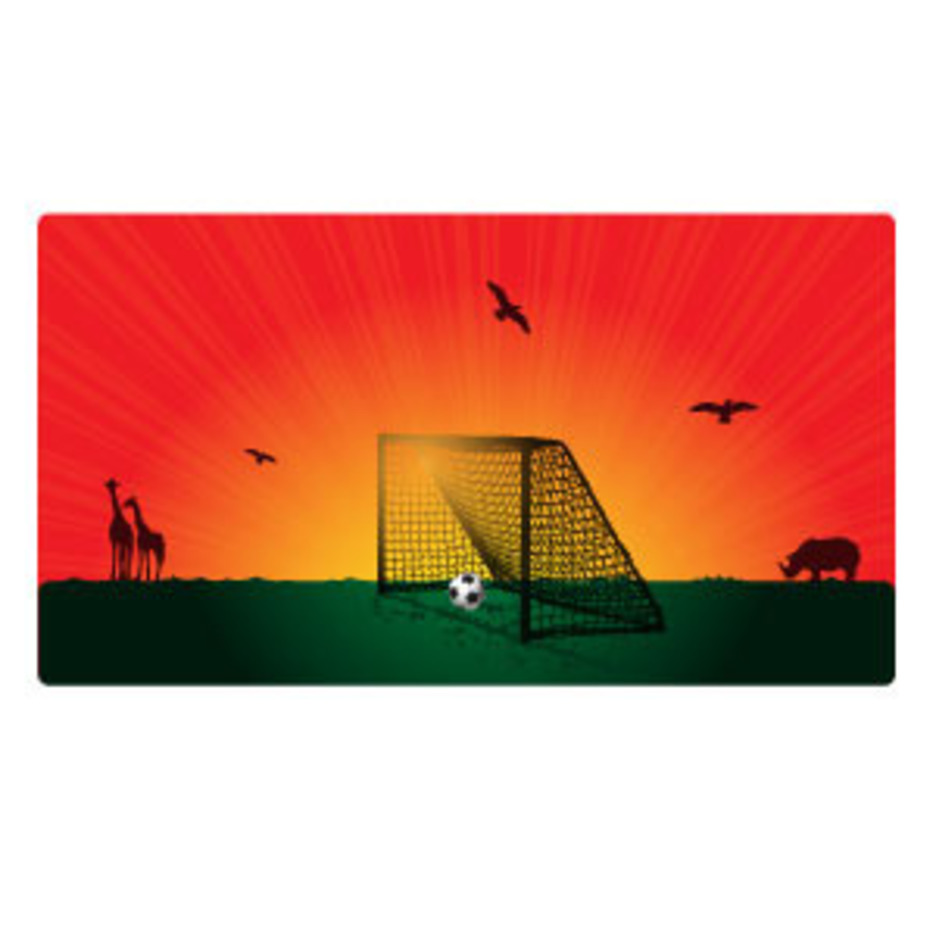 Goal In The Sunset Vector