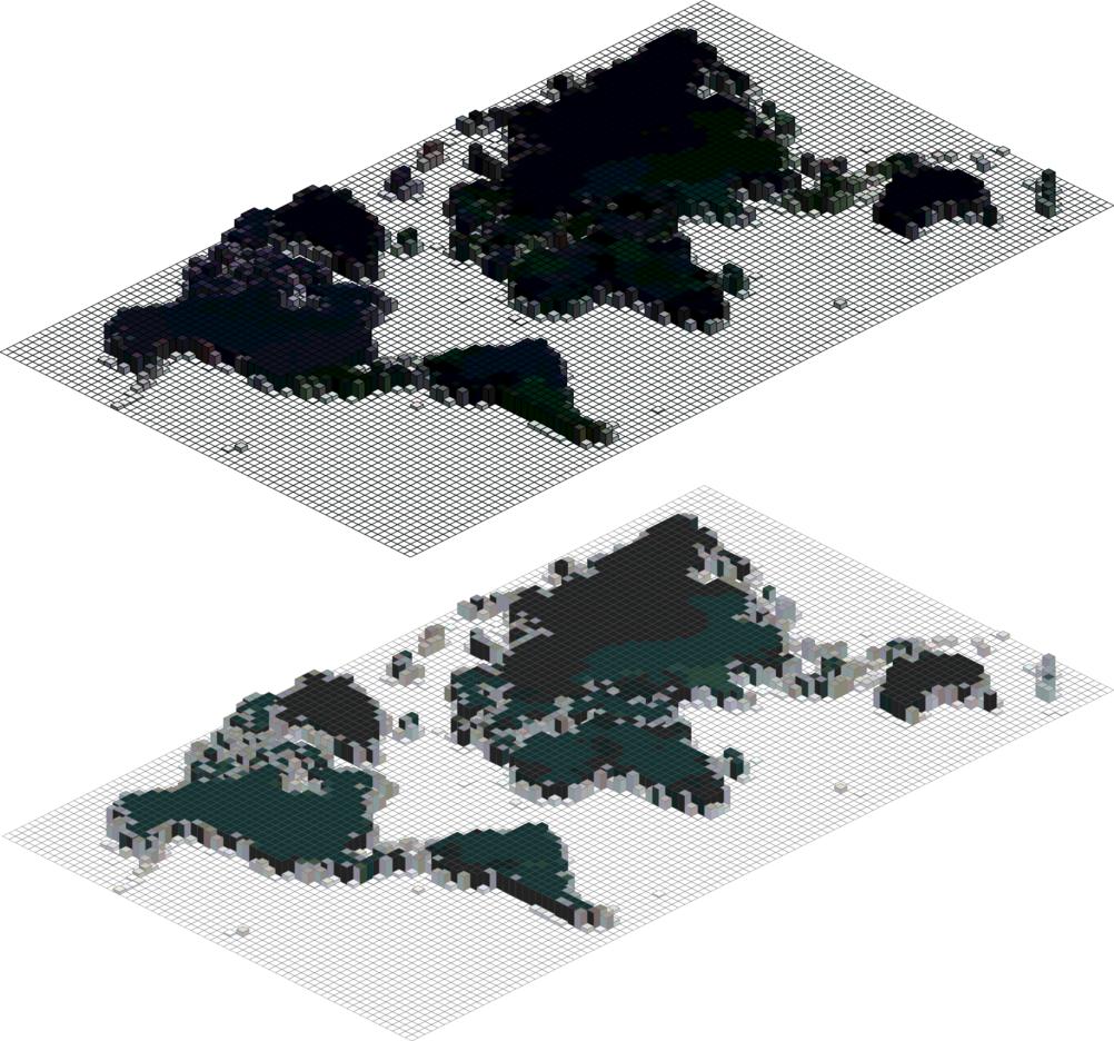 Mosaic Vector World Map