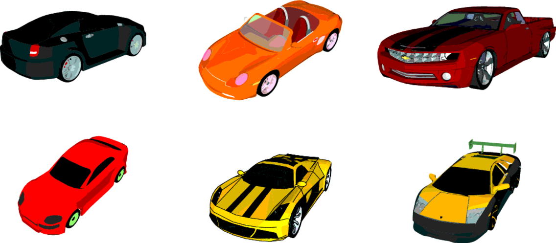 Download 6 Vector Cars