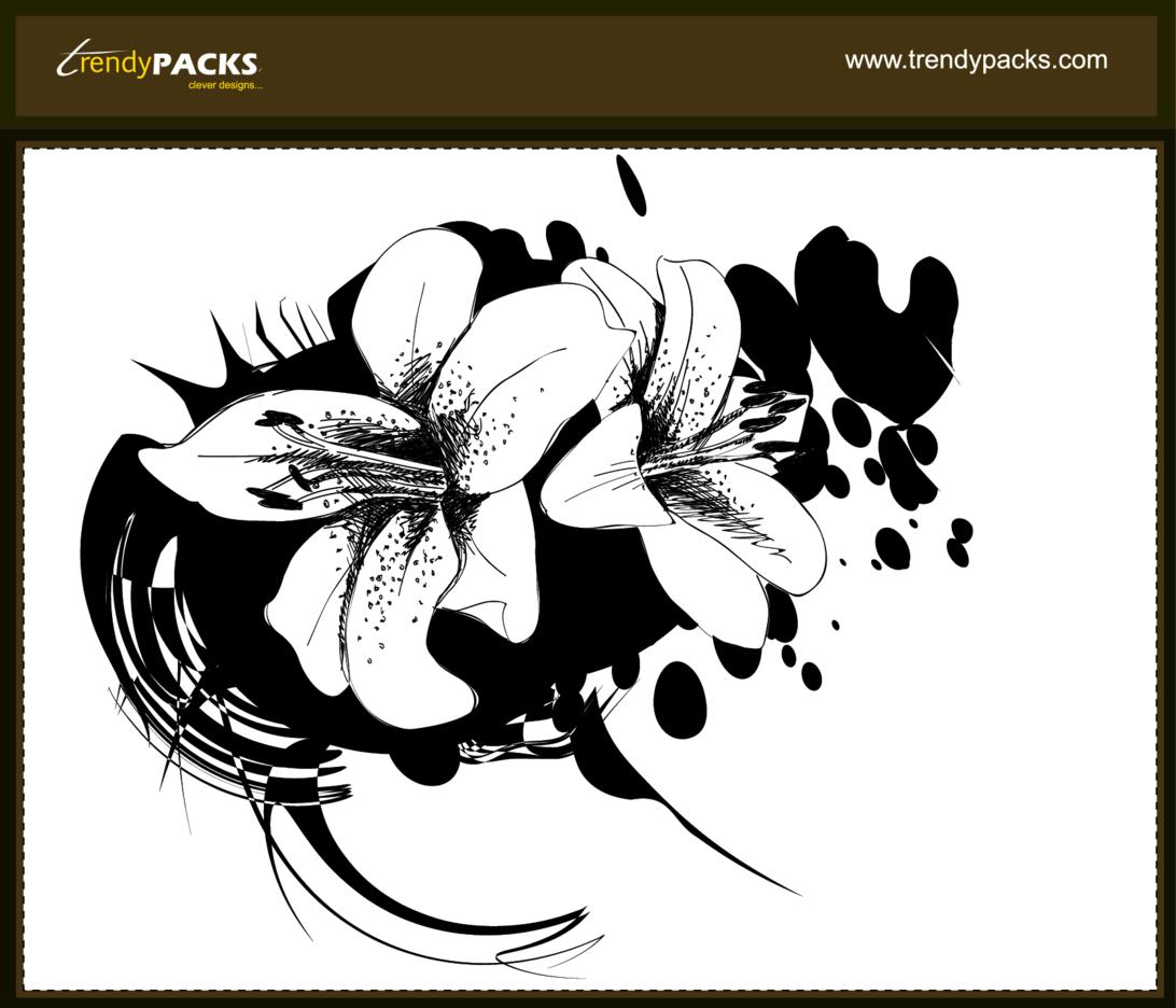 Grunge Floral Vectors