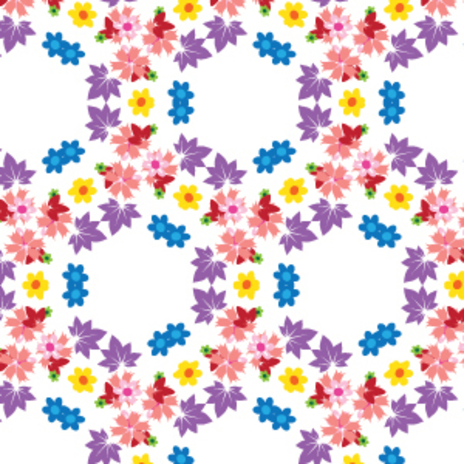 Floral Honeycomb Pattern