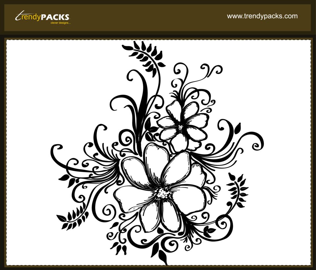 Free Floral Motifs Vectors