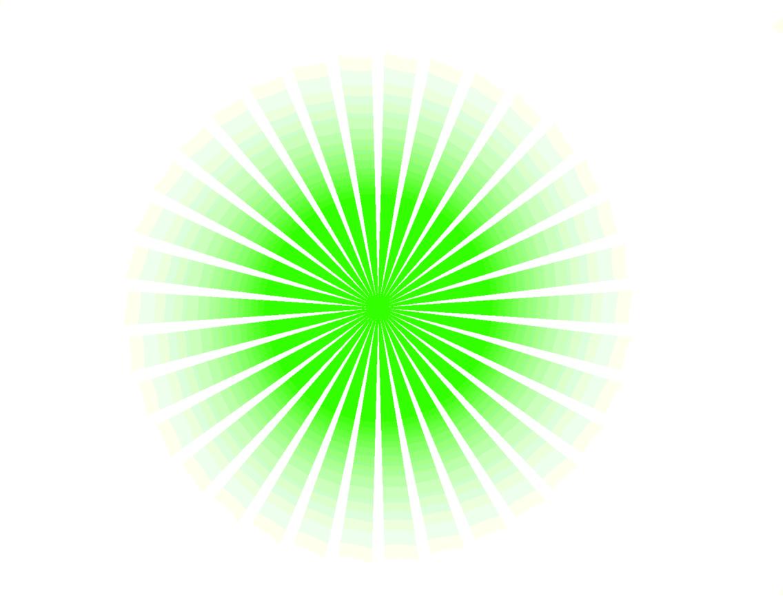 Green Vector Sunbeams