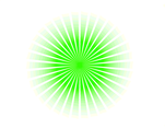 Green Vector Sunbeams