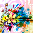 Colorful Floral Background Vector Background