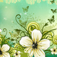Flowers Background By VectoropenStock