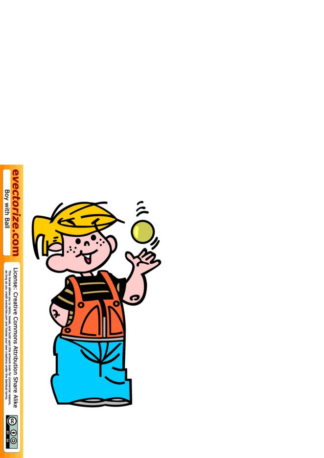 Boy Tossing Ball