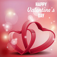 Hearts Valentine's Day Background Vector