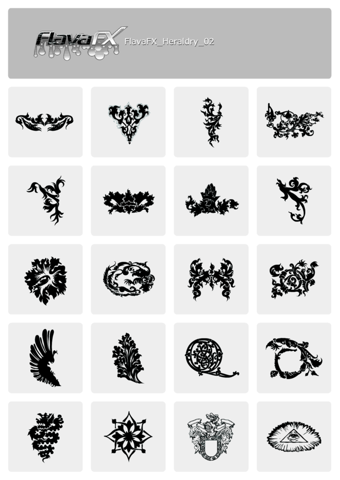 Heraldry Free Vector Sets