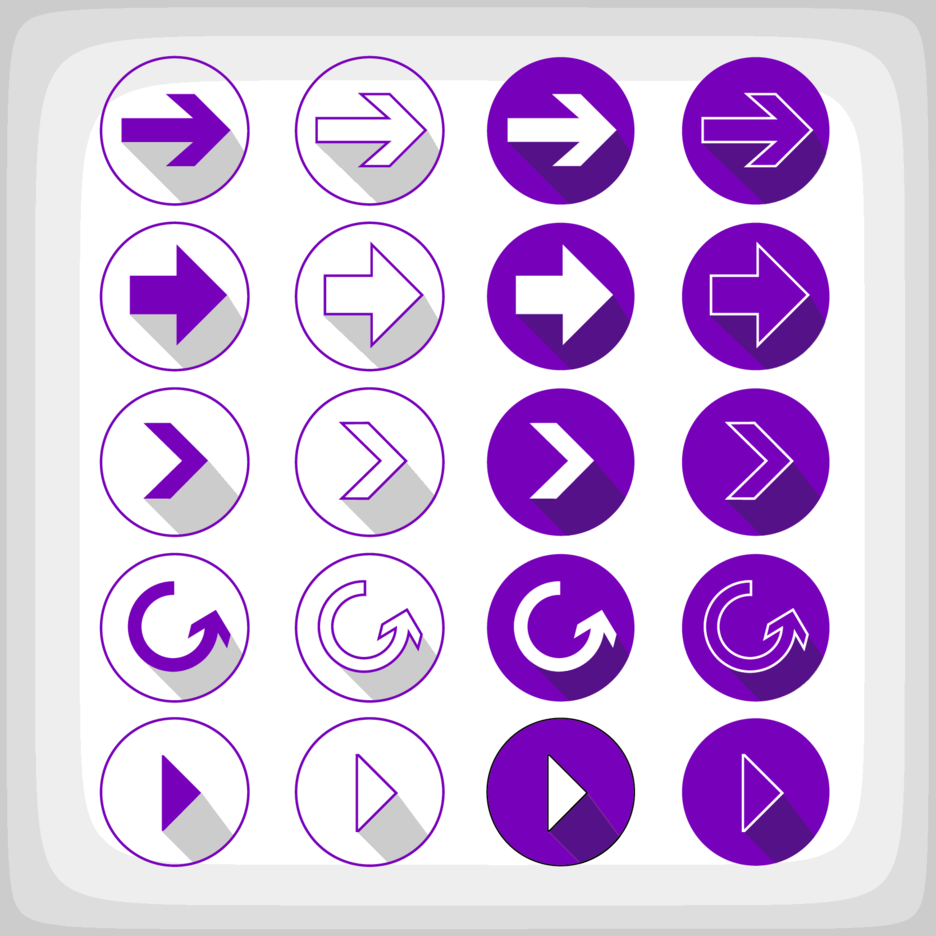 Purple Arrow Web Elements