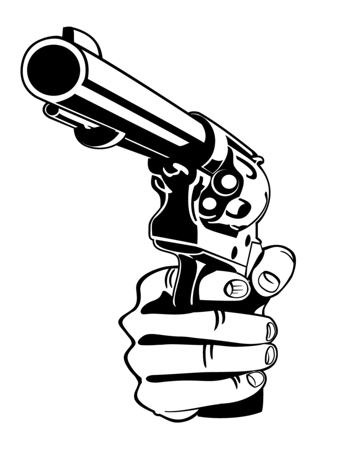View Pistol Vector Png