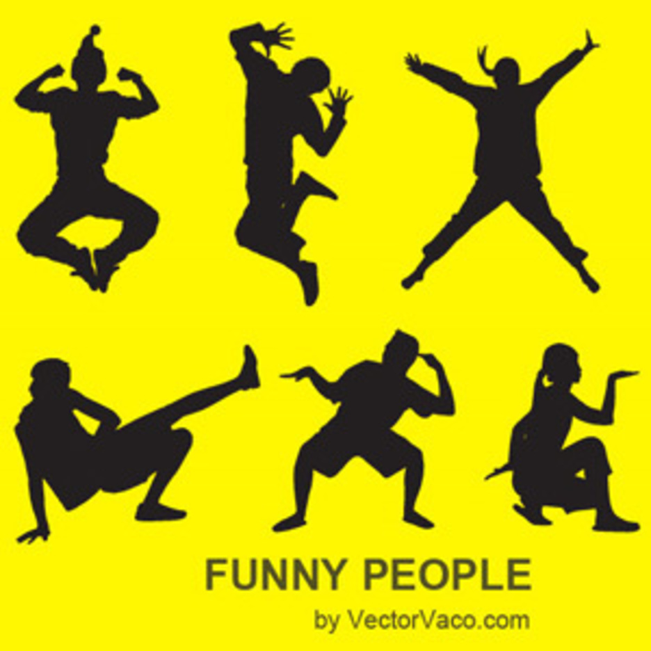 Funny People Vector Illustration