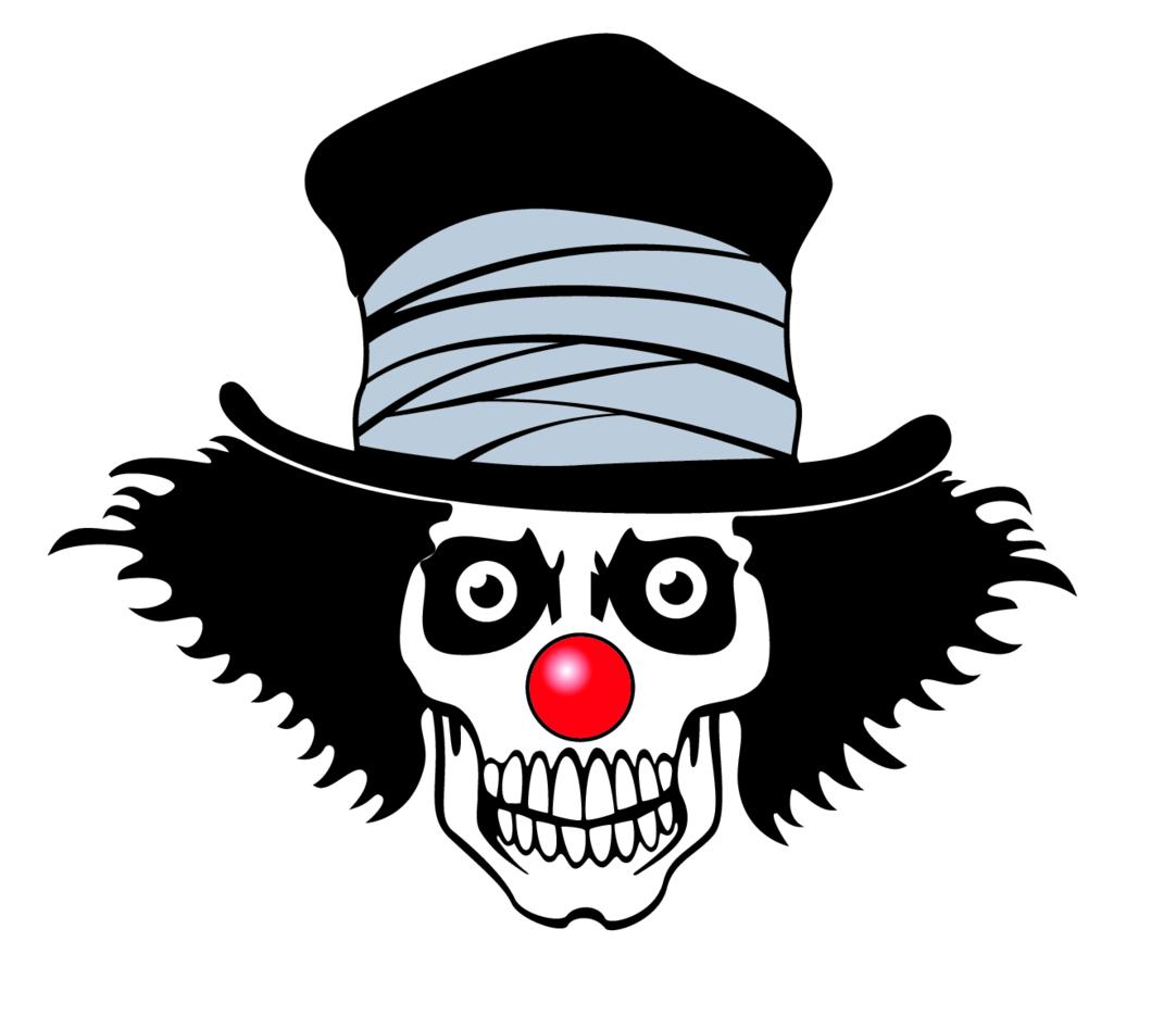 Clown Skull Vector Image