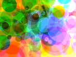 Bubbles In Color Background