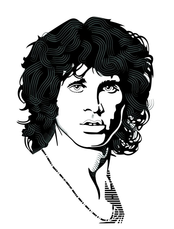 Jim Morrison Vector Portrait